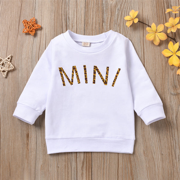 Parent-Child Letter Mama & Mini Printed Long Sleeve Casual Printed Wholesale Mommy And Me Clothing