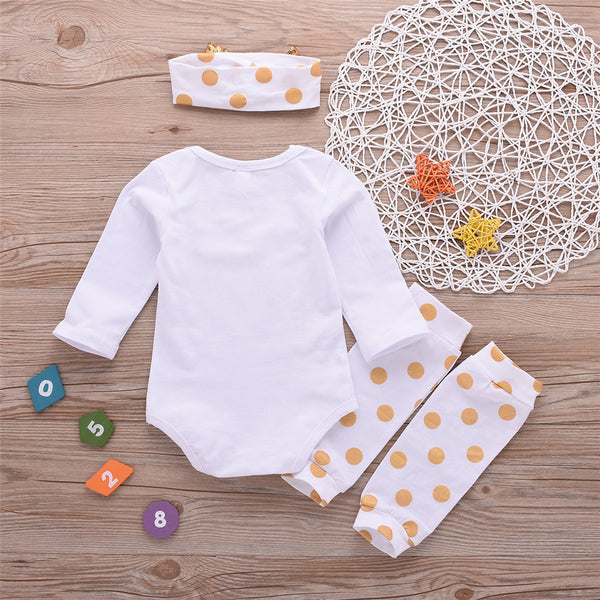 Baby Girls Letter Print Romper & Socks & Headband Baby Clothes Suppliers