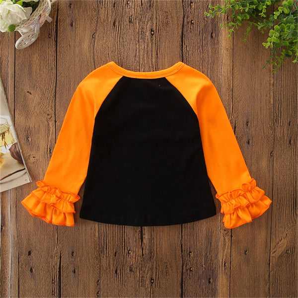 Girls Letter Printed Casual Long Sleeve Tees Girls Wholesale Clothing