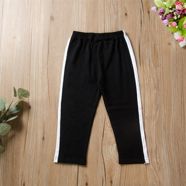 Unisex Letter Printed Elastic Waist Casual Pants Kids Clothing Vendors