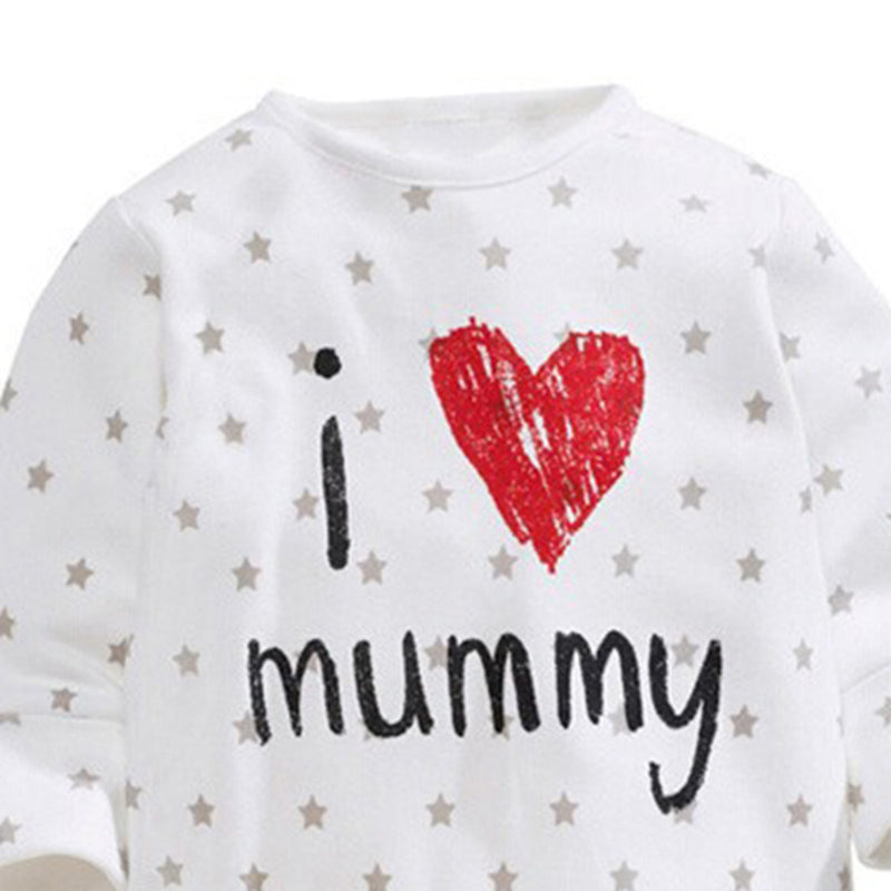 Baby Letter Printed Long Sleeve Rompers