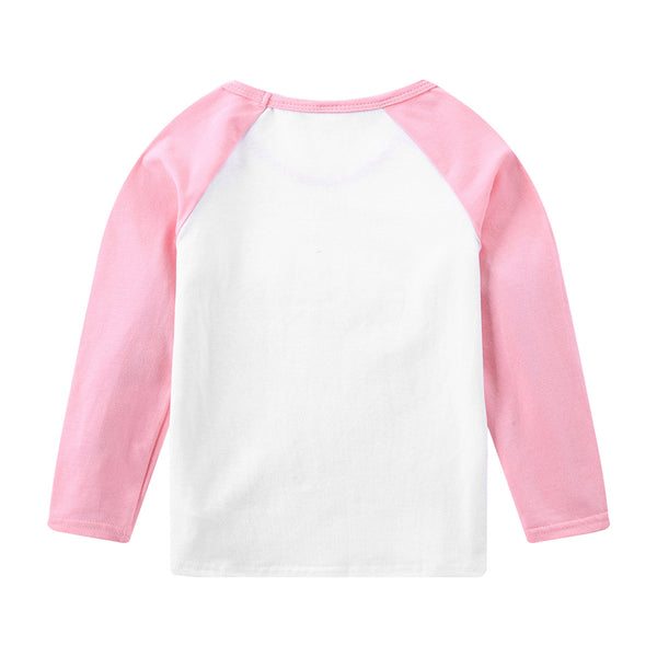Unisex Letter Printed Long Sleeve T-shirt Girls Clothes Wholesale