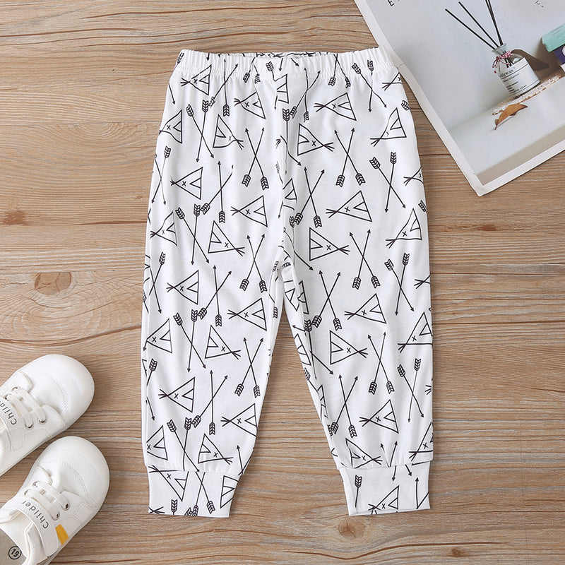 Baby Boys Letter Printed Long Sleeve T-shirt &Cartoon Pants Cheap Bulk Baby Clothes