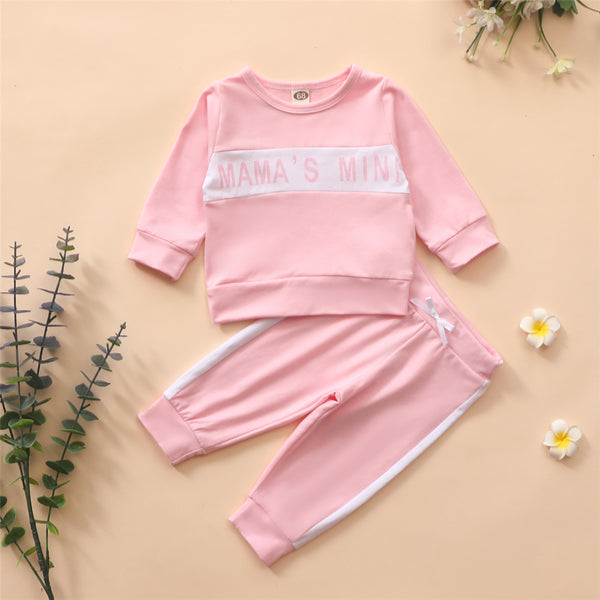 Baby Girls Letter Printed Long Sleeve Top & Pants Baby Clothes Warehouse