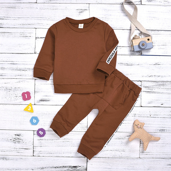 Girls Letter Printed Long Sleeve Top & Pants Wholesale Girls Clothes