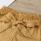 Baby Girls Letter Printed Short Sleeve Romper & Polka Dot Pants & Headband Baby Wholesale Clothing