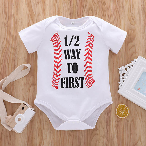 Baby Boys Letter Printed Short Sleeve Romper wholesale baby boy clothes