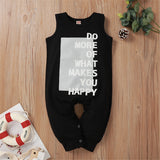 Baby Unisex Letter Printed Sleeveless Romper Wholesale Clothing Baby