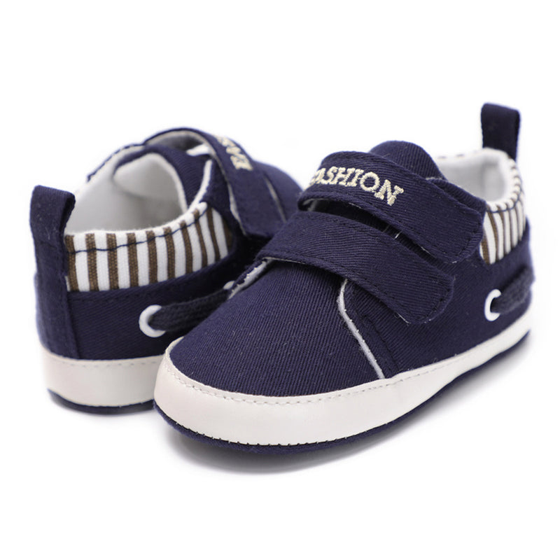 Baby Boys Letter Printed Stripe Canvas Sneakers