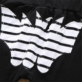 Boys Letter Printed Stripe Long Sleeve Hooded Tracksuit