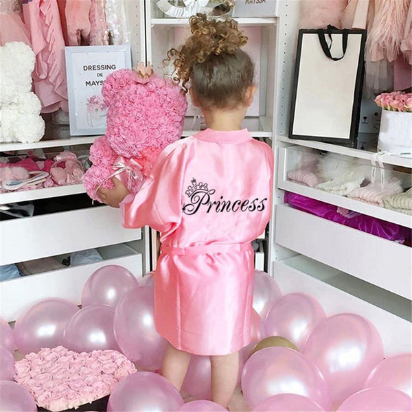 Girls Letter Solid Color Bathrobe & Bandage Girls Clothing Wholesalers