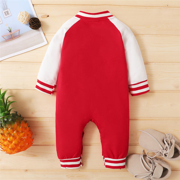 Baby Boys Long Sleeve Button Color Block Romper Buy Baby Clothes Wholesale