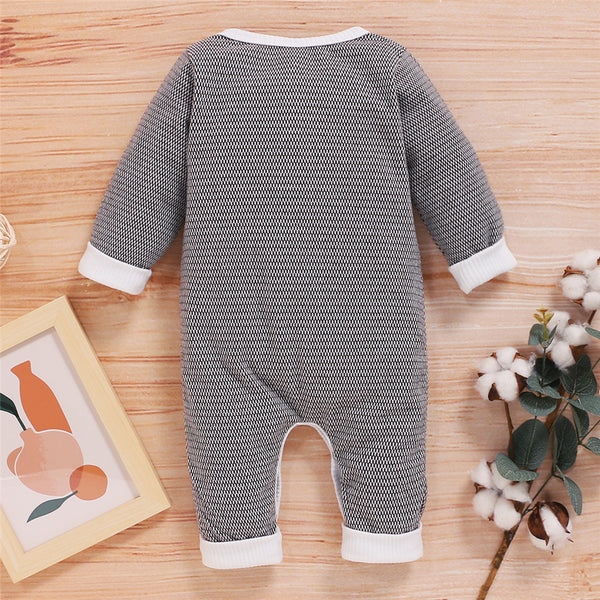 Baby Unisex Long Sleeve Button Romper Buy Baby Clothes In Bulk