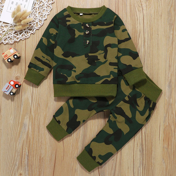 Baby Boys Long Sleeve Camouflage Top & Pants Buy Baby Clothes Wholesale