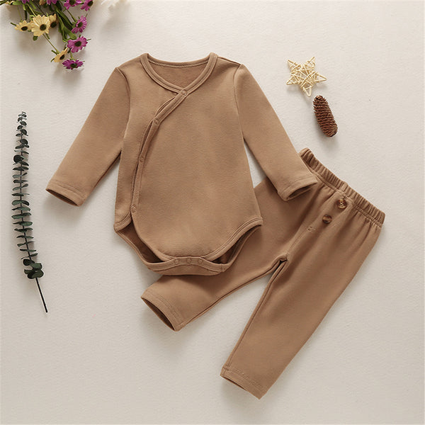 Baby Unisex Long Sleeve Cardigan Romper & Pants Baby Clothing Wholesale