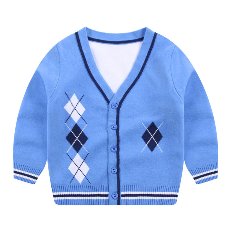 Boys Long Sleeve Cardigan Sweater Jacket