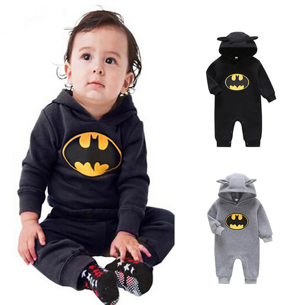 Baby Boys Long Sleeve Cartoon Hooded Romper Babywear Wholesale