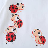 Baby Girls Long Sleeve Cartoon Ladybug Romper & Pants Baby Wholesale Clothes