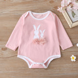 Baby Girls Long Sleeve Cartoon Rabbit Romper & Pants & Hat Buy Baby Clothes Wholesale