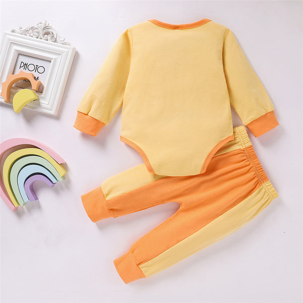 Baby Unisex Long Sleeve Casual Romper & Pants Baby Wholesale Clothes