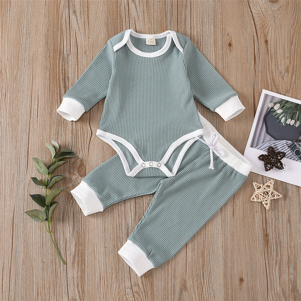 Baby Unisex Long Sleeve Casual Romper & Pants Cheap Boutique Baby Clothes