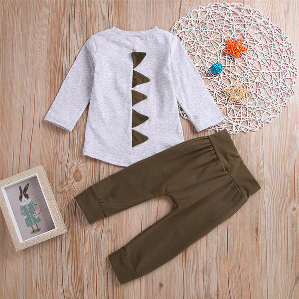Toddler Boys Long Sleeve Casual Top & Pants Cheap Baby Clothes In Bulk