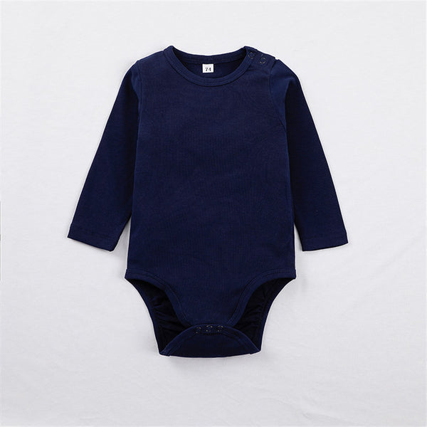 Baby Boys Long Sleeve Crew Neck Romper Baby Clothes Cheap Wholesale