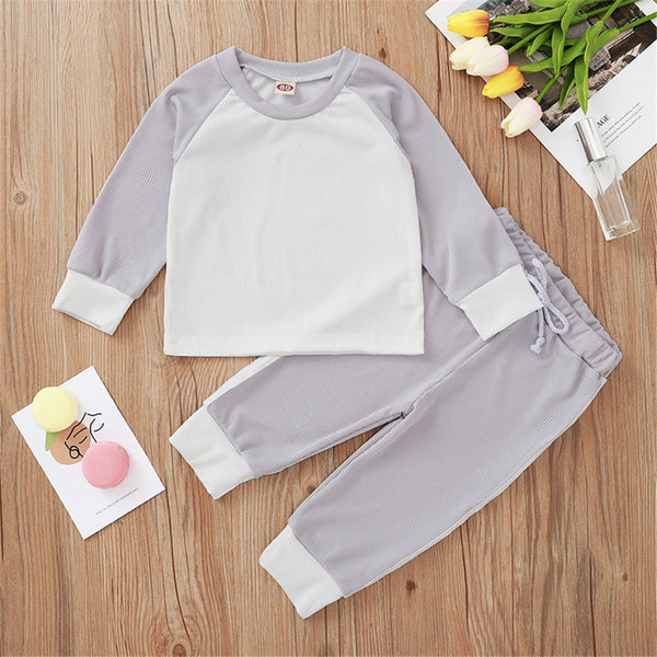Baby Girls Long Sleeve Crew Neck T-shirts & Pants Baby Clothes Vendors