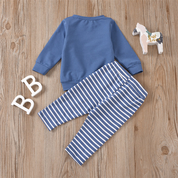 Baby Girls Long Sleeve Crew Neck Top & Striped Pants Baby Wholesales