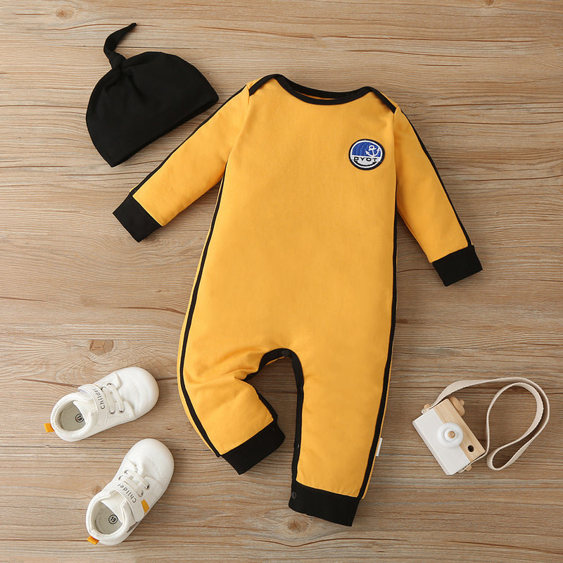 Baby Boys Long Sleeve Cute Romper & Hat Wholesale Baby Clothes Suppliers