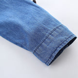 Parent-Child Long Sleeve Denim Top & Skirt Mommy And Me Wholesale Clothing