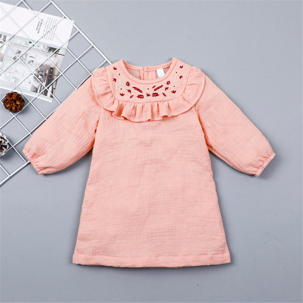 Baby Girls Long Sleeve Embroidery Casual Dress Buy Baby Clothes Wholesale