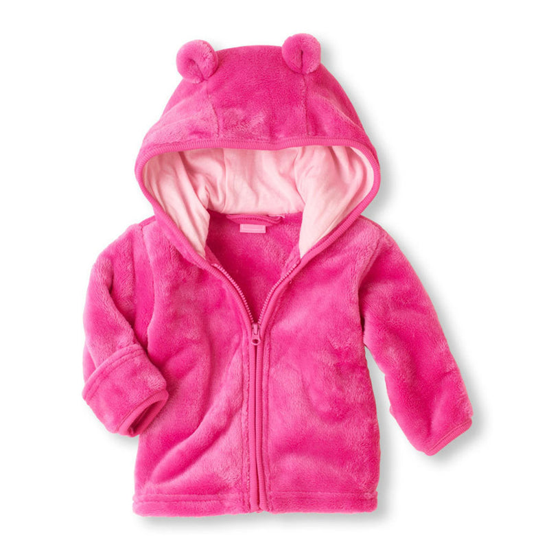 Baby Solid Long Sleeve Hooded Winter Coats Baby Clothing Wholesale Distributors