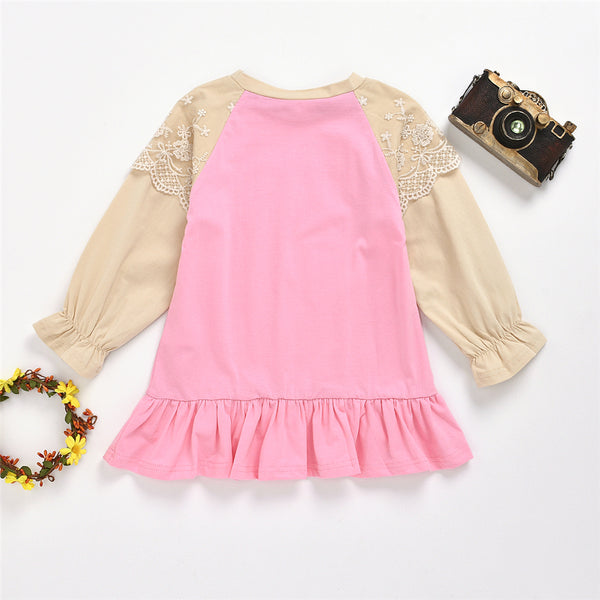 Girls Long Sleeve Letter Heart Printed Tops Girl T Shirts Wholesale