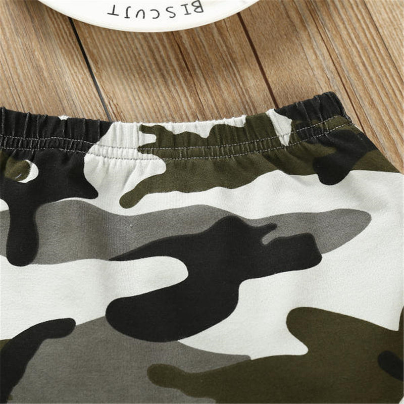 Boys Long Sleeve Letter Printed Hooded Tops & Pants