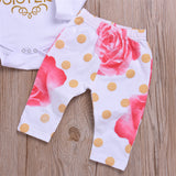 Baby Girls Long Sleeve Letter Top & Floral Pants & Hat & Headband