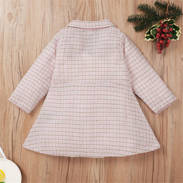 Girls Long Sleeve Plaid Button Cardigan Dress Girls Clothing Wholesalers