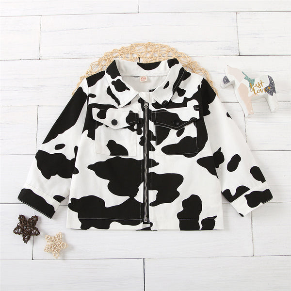 Girls Long Sleeve Printed Stylish Jacket Trendy Toddler Clothes Cheap