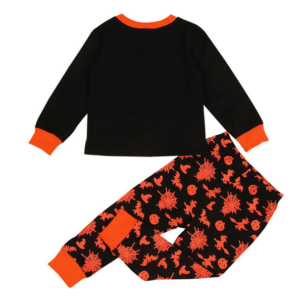 Boys Long Sleeve Pumpkin Printed Top & Pants