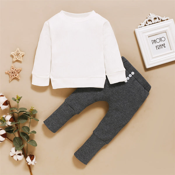 Baby Long Sleeve Rabbit Casual Top & Pants Boutique Baby Clothes Wholesale