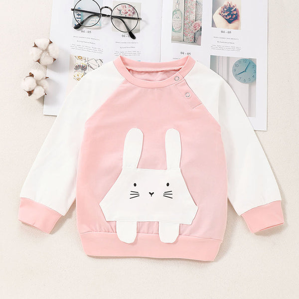 Girls Long Sleeve Rabbit Cute Top Baby Boutique Clothing Wholesale