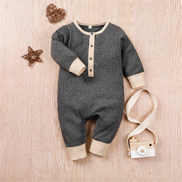 Baby Boys Long Sleeve Romper Where To Buy Baby Clothes In Bulk