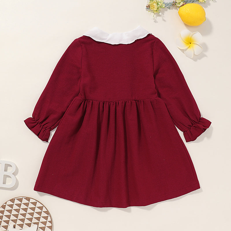 Girls Long Sleeve Solid Dress Buy Kids Clothing Wholesale