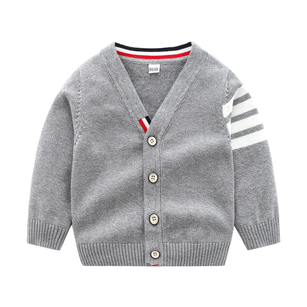 Baby Boys Long Sleeve Stripe Cardigan Sweaters Cheap Boutique Baby Clothing