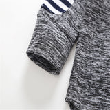 Boys Long Sleeve Striped Hooded Tracksuit