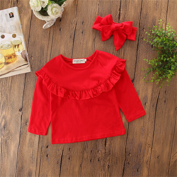 Toddler Girls Long Sleeve Top & Jeans & Headband Toddler Girls Wholesale