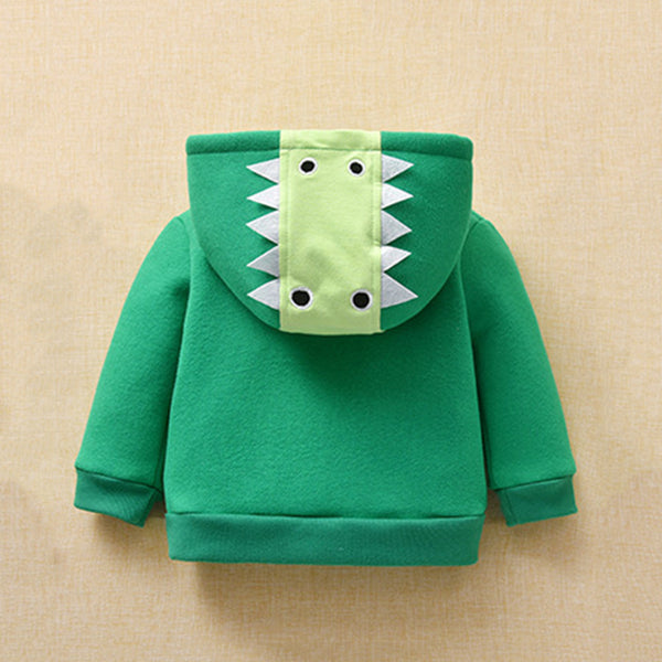 Baby Boys Long Sleeve Zipper Hooded Cartoon Jacket Baby Wholesale Clothes
