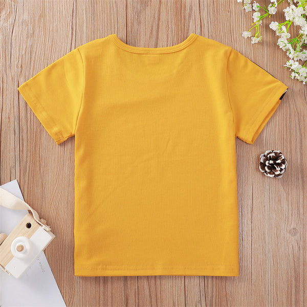 Unisex Love Printed Short Sleeve T-Shirts wholesale childrens clothing in bulk