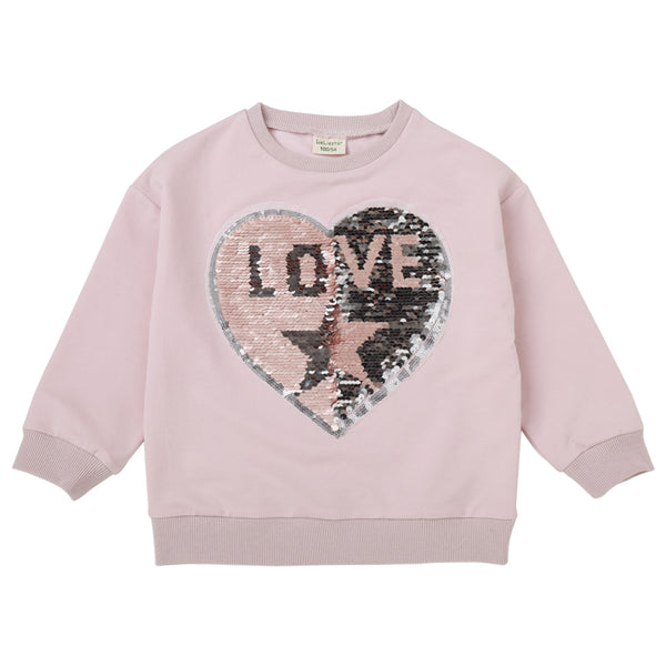 Girls Love Sequin Letter Long-sleeve Tees Wholesale