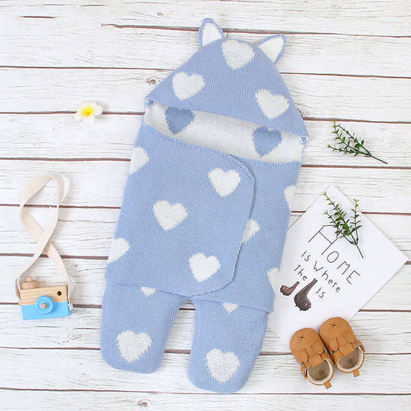 Baby Lovely Heart Solid Color Sleeping Bag Baby Blankets Wholesale